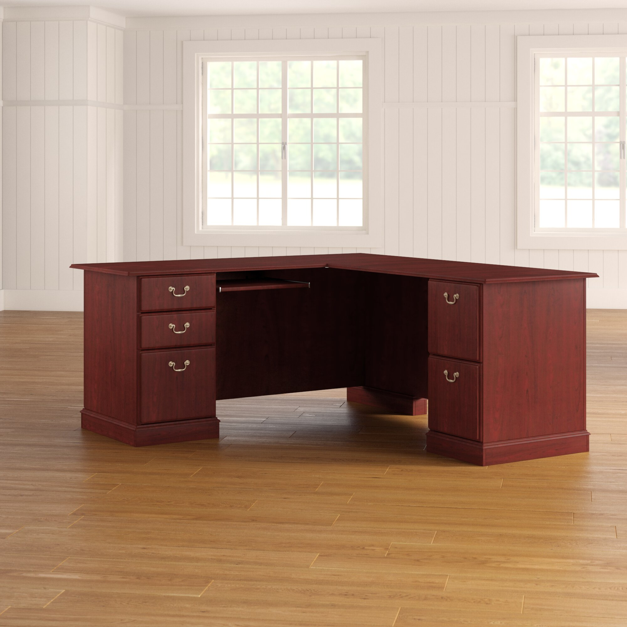 newest 296e2 2b4f3 Astoria Grand Cowdray Solid Wood L-Shaped Computer Desk ...
