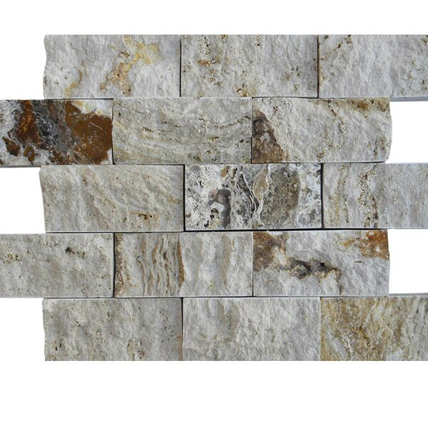 2 x 4 Natural Stone Mosaic Splitface Tile in Gray by QDI Surfaces