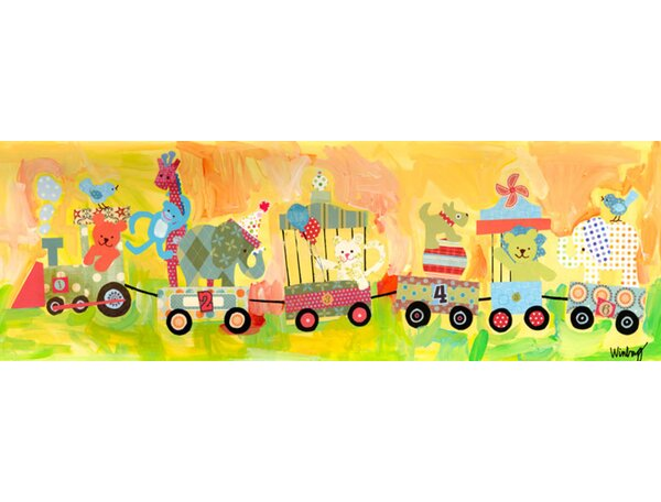 Circus Train Canvas Art by Oopsy Daisy