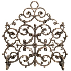 Classic Single Panel Cast Iron Fireplace Screen Ornamental Designs