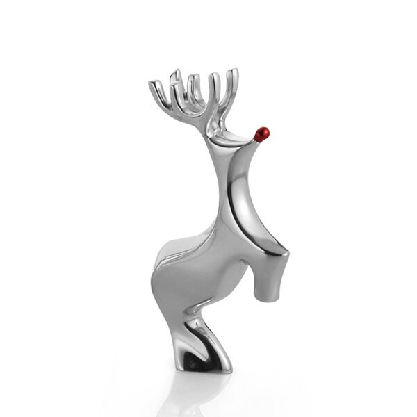 Mini Nosed Reindeer Figurine by Nambe
