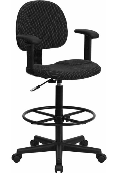 Kruger Drafting Chair by Symple Stuff