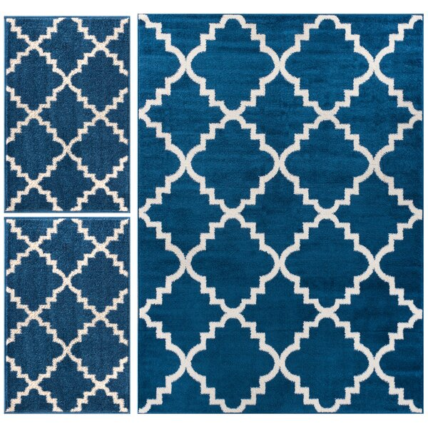 Blue Kitchen Rug: Well Woven Royal Court 3 Piece Blue Area Rug Set & Reviews