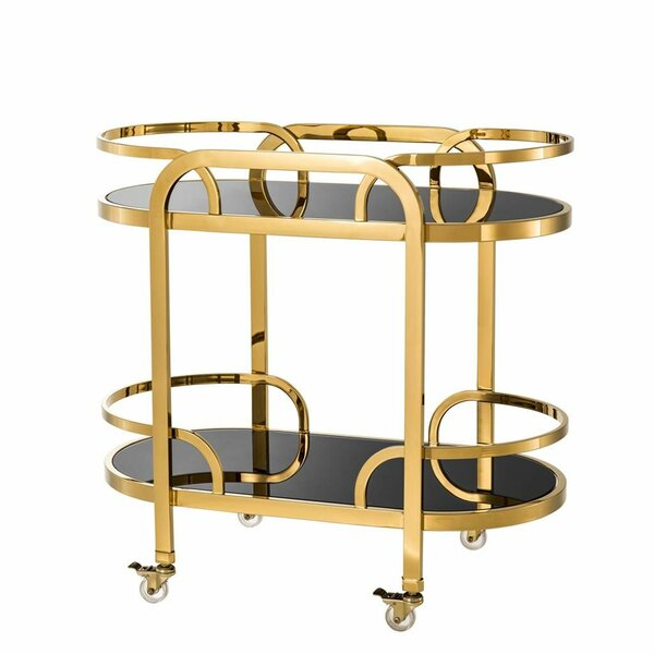 Glass Trolley Bar Cart By Eichholtz Sale