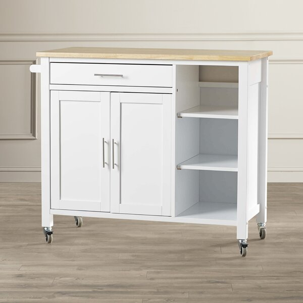 Landau Kitchen Cart With Butcher Block Top By Alcott Hill Spacial Price