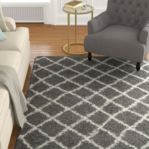 Laurelville Dark Gray/Ivory Area Rug by Alcott Hill