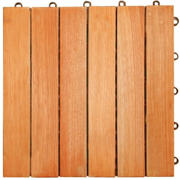 Cadsden 12 x 12 Eucalyptus Interlocking Deck Tile