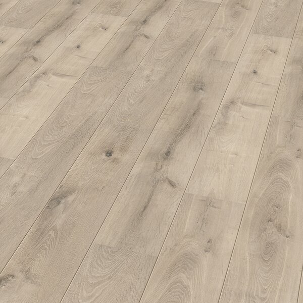 7 x 47 x 11mm Oak Laminate Flooring in Beige by ELESGO Floor USA
