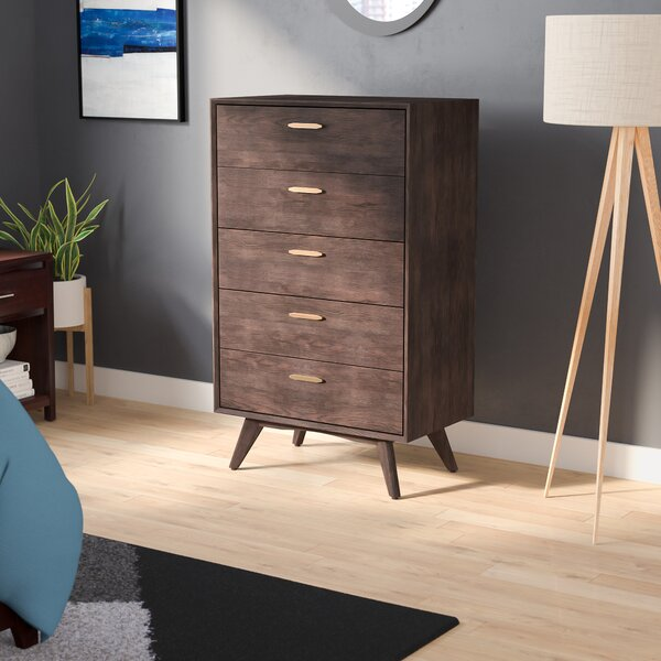 Dalessio Wooden 5 Drawer Chest by Brayden Studio