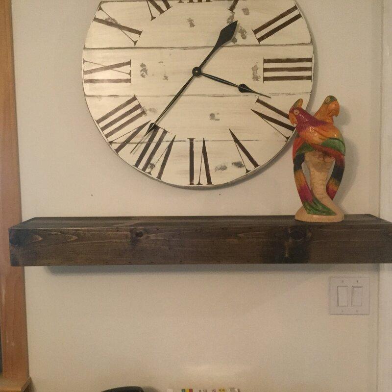 Floating Shelf Solid Wood Handmade Rustic Style Shelf - Floating & Hanging Shelves You'll Love Wayfair