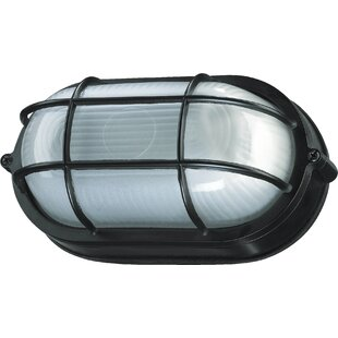 Gendron 1-Light Outdoor Bulkhead Light By Breakwater Bay Outdoor Lighting