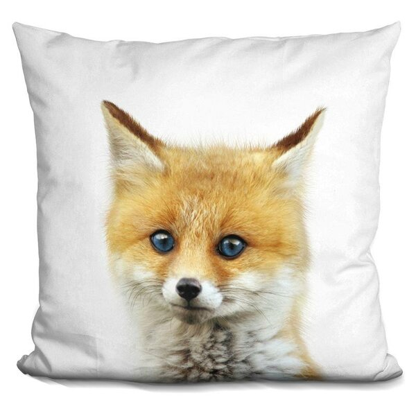 Baby Fox Throw Pillow by East Urban Home