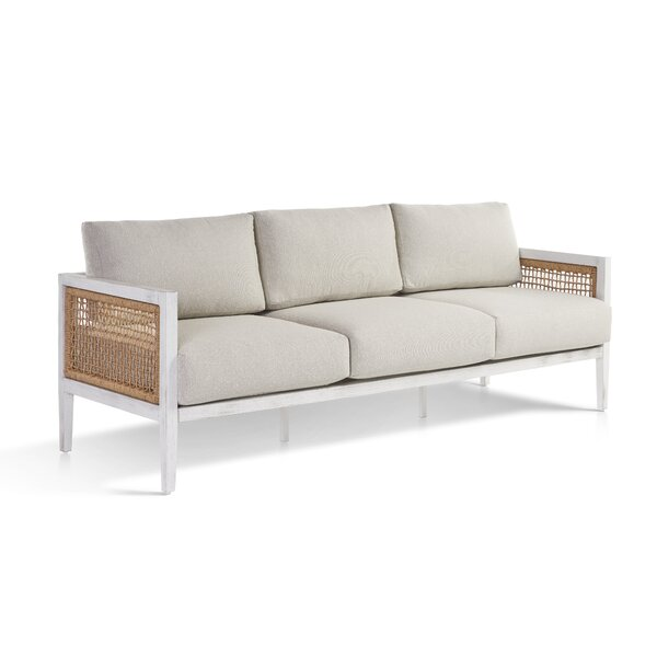 Mciver Parva Patio Sofa with Sunbrella Cushions by Rosecliff Heights