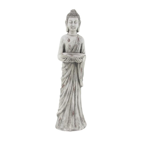 Herbst Traditional Standing Buddha Resin Figurine by World Menagerie