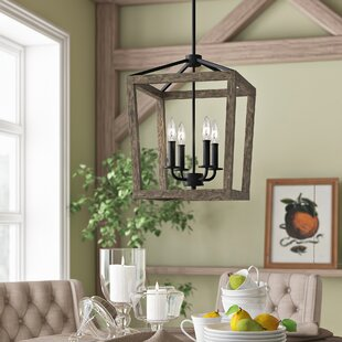 Natarsha 4 Light Lantern Geometric Pendant