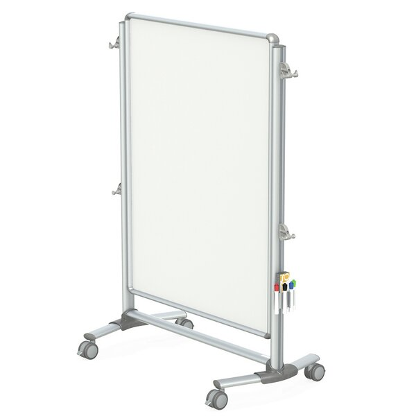 Ghent Nexus Partition, Mobile 2-Sided Porcelain Magnetic Whiteboard by Ghent