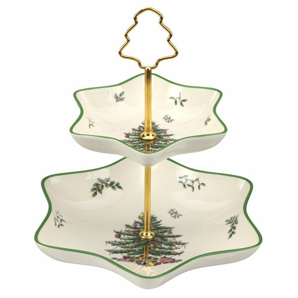 Christmas Tree Candy Tiered Stand by Spode