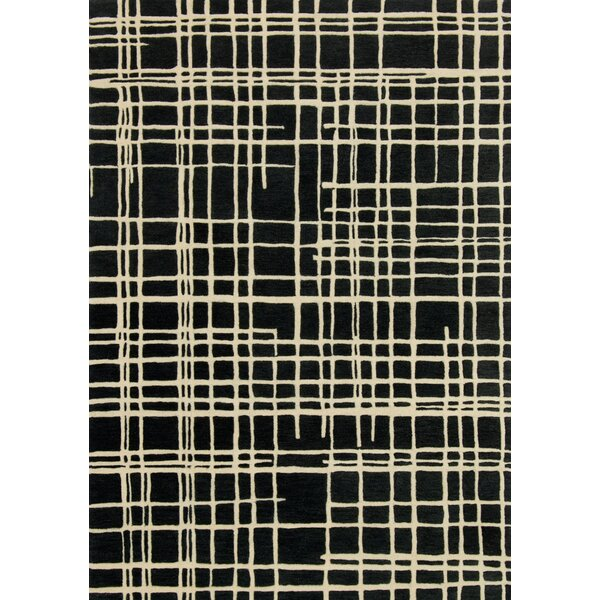 Mazon Hand-Tufted Black/Beige Area Rug by Ivy Bronx