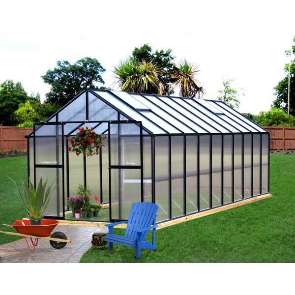 Monticello 8 Ft. W x 20 Ft. D Hobby Greenhouse by Riverstone Industries