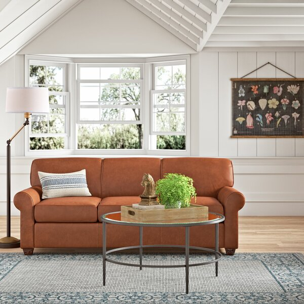 Jennifer Leather Sofa Bed by Wayfair Custom Upholstery™