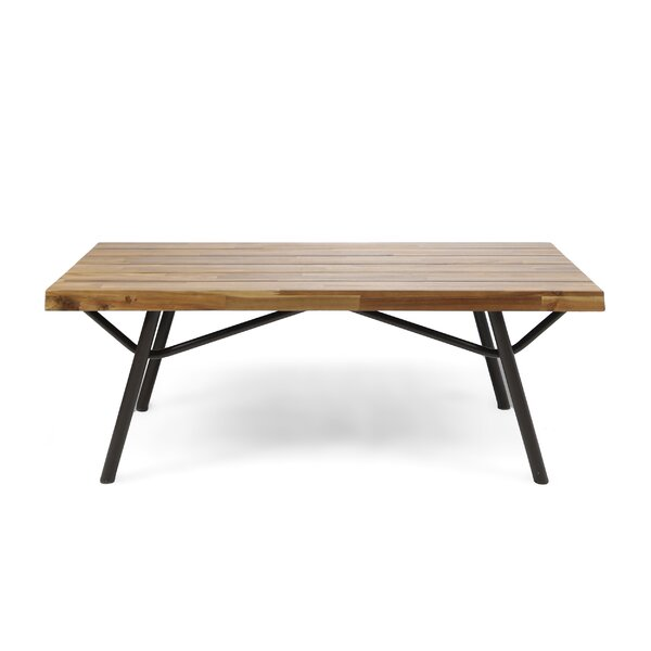 Ambrosina  Acacia Wood Coffee Table by Ivy Bronx