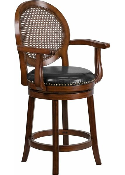 Howze 26'' Swivel Bar Stool by Alcott Hill
