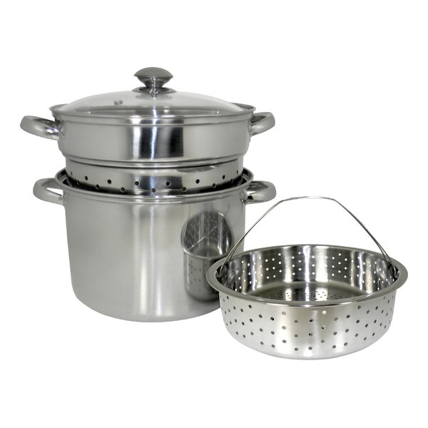 4 Piece 8 Qt. Stainless Steel Multi-Cooker Set by