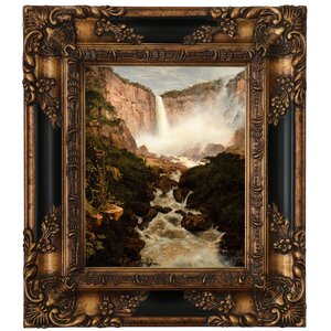 'The Falls of the Tequendama Near Bogota, New Granada' Framed Graphic Art Print on Canvas by Alcott Hill