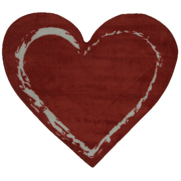 Fun Time Heart Red Area Rug by Fun Rugs