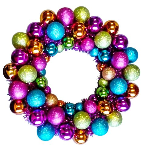 16 Battery Operated Ball Wreath by Mercury Row