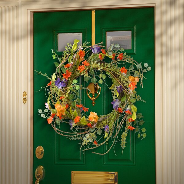 22 Fabric Floral Wreath by August Grove
