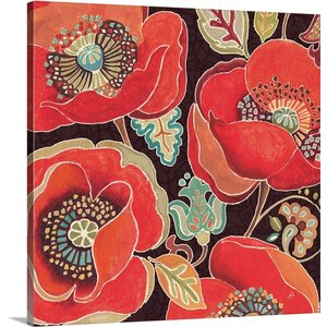 Moroccan Red IV by Daphne Brissonnet Graphic Art on Wrapped Canvas by Great Big Canvas