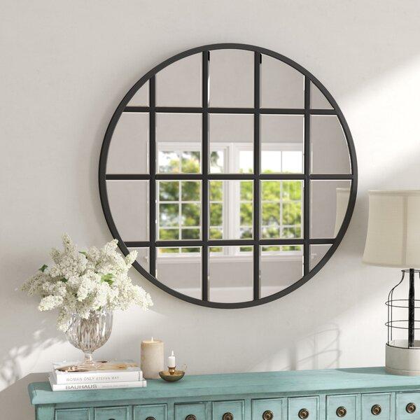 Round Beveled Window Accent Mirror by Birch Lane™