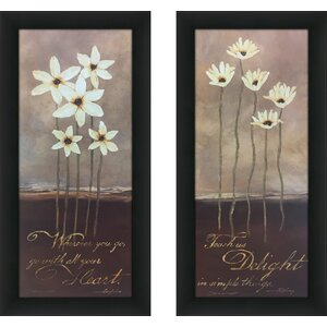 'Wherever You Go' 2 Piece Framed Graphic Art Print Set by Red Barrel Studio
