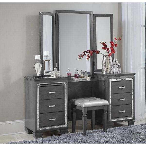 Boden Vanity with Mirror by House of Hampton
