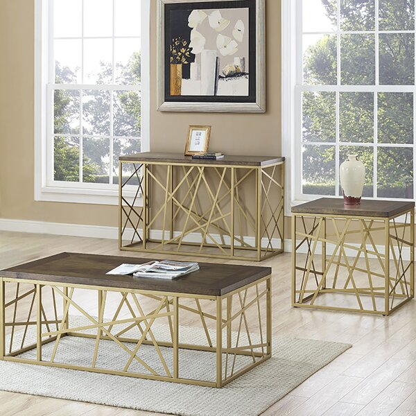 Turcotte 3 Piece Coffee Table Set by Mercer41 Mercer41
