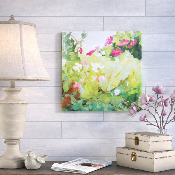 Late Summer Flowers Painting Print on Wrapped Canvas by August Grove