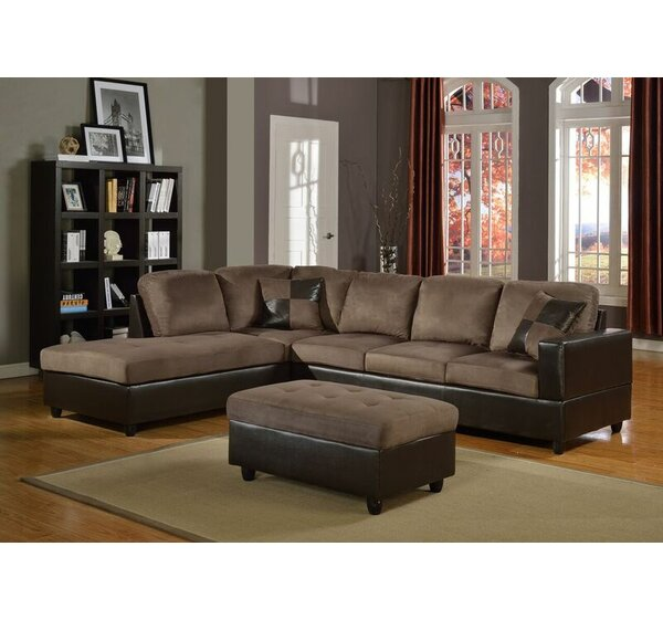 Jackson Sectional with Ottoman by Beverly Fine Furniture