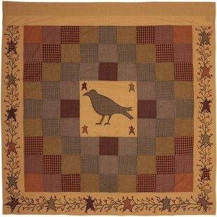 Best Reviews Erekson Bath Crow Embroidered 100% Cotton Shower Curtain ByAugust Grove