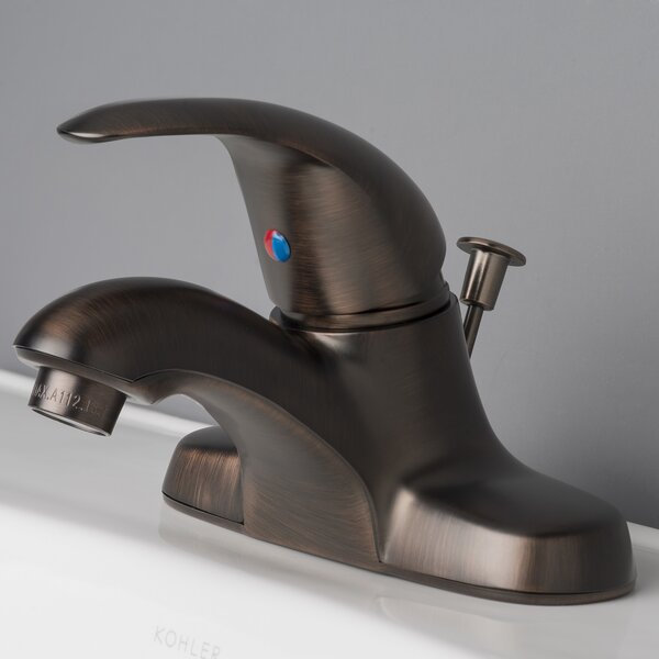 Centerset Bathroom Faucet with Drain Assembly by Laguna Brass