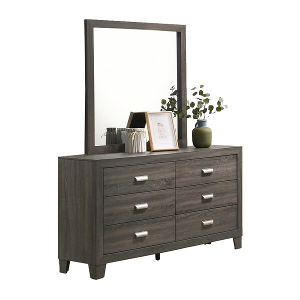 Ferber 6 Drawer Dresser with Mirror by Union Rustic