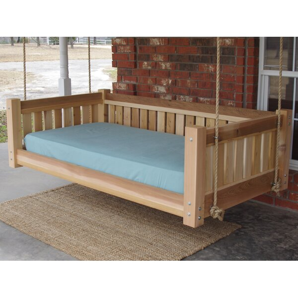 Lomba Hanging Daybed Porch Swing by Millwood Pines