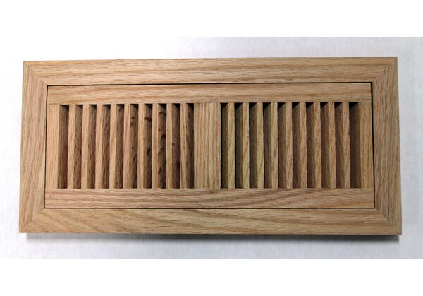 6.75 x 14.5 Red Oak Wood Flush Mount Vent Cover by Moldings Online