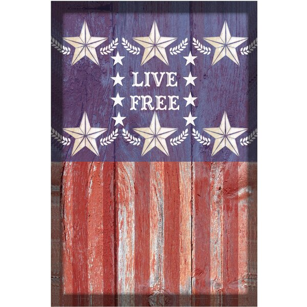 Live Free Garden Flag by The Cranford Group