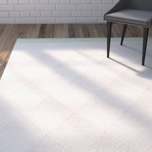 Veasley Hand-Woven Lime/Beige Area Rug by Wrought Studio