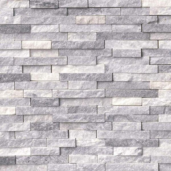 Alaskan Random Sized Marble Splitface Tile in Gray