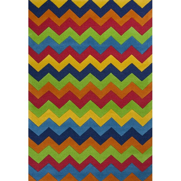 Shari Multi Cool Ziggy Zaggy Area Rug by Viv + Rae