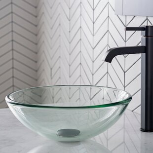 Find for Glass Circular Vessel Bathroom Sink By Kraus