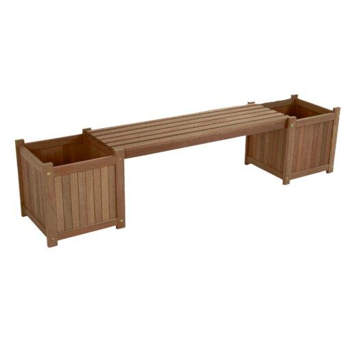 Wooden Planter Bench Lesli Living