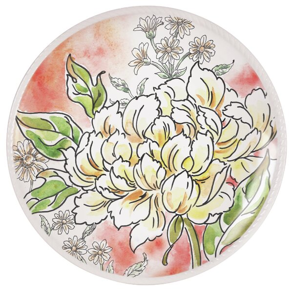 Savannah Peony Plate by Fitz and Floyd